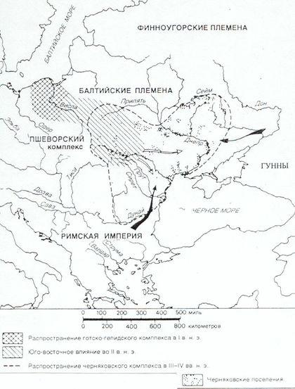 Карта расселения народов того времени