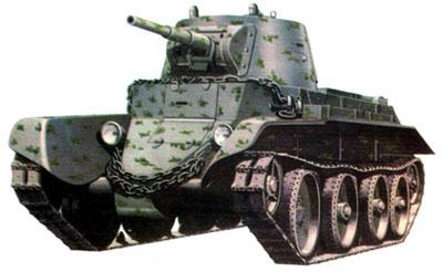 Более тяжелые бои пришлось вести экипажам танков БТ-7 во время советско-финляндской войны зимой 1939–1940 гг...